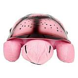 Музыкальный ночник-проектор, звездное небо черепашка Turtle Night Sky Pink (ZOSTURTLE розовая), фото 2
