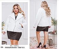 Шубка пиджак женская экомех 50-52,54-56, фото 1
