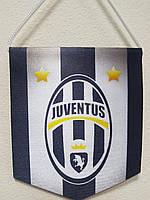 """Вымпел тканевой """"Евро клубы"""" FC Juventus р.13*11 см."""