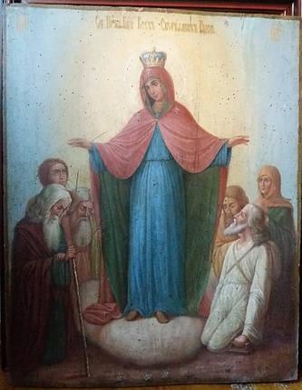 Икона Всех скорбящим радость 19 век, фото 2