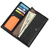 Шкіряний жіночий гаманець TAILIAN 187х93х25 всередині монетниця м Т8202-3Н09ч, фото 3