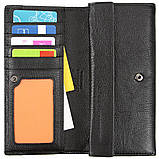 Шкіряний жіночий гаманець TAILIAN 187х93х25 всередині монетниця м Т8202-3Н09ч, фото 4