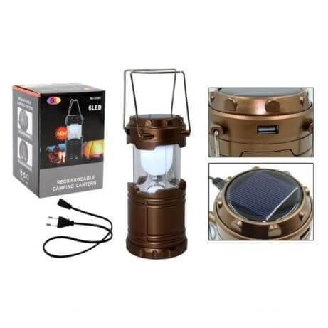 Кемпинговый фонарик G85 аккумуляторный, зарядка от солнца, POWER BANK