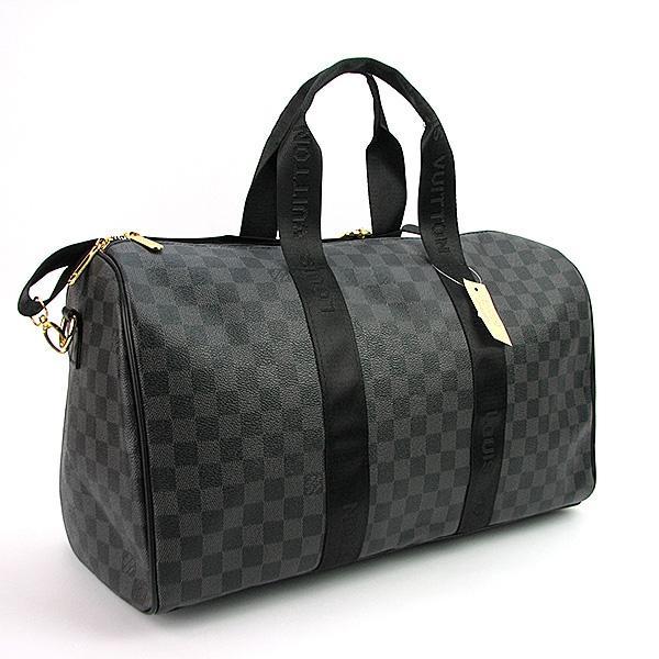 Сумка дорожная кожа PU серая Louis Vuitton 41412-3