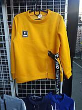 Подростковый батник для девочки Off White р. 134-158 желтый