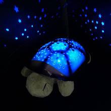 Музыкальный ночник-проектор, звездное небо черепашка Turtle Night Sky Olive (ZOSTURTLE оливковый)
