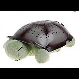 Музыкальный ночник-проектор, звездное небо черепашка Turtle Night Sky Olive (ZOSTURTLE оливковый), фото 2