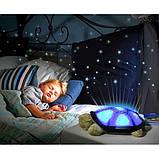 Музыкальный ночник-проектор, звездное небо черепашка Turtle Night Sky Olive (ZOSTURTLE оливковый), фото 4