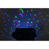 Музыкальный ночник-проектор, звездное небо черепашка Turtle Night Sky Olive (ZOSTURTLE оливковый), фото 5