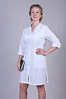 Медицинский женский халат белый 2125 ( батист 40-56 р-р )