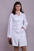Медичний халат жіночий 1106 ( габардин 40-60 р-н )