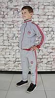 Костюм детский спортивный серый с красными полосками Point ONE