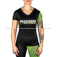 Женская Футболка Venum Training Camp 2.0 T-Shirt Black Neo Yellow