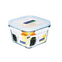 Стеклянный контейнер для хранения с герметичной крышкой с креплениями Glasslock, 500 мл., квадратный (MCST-050)