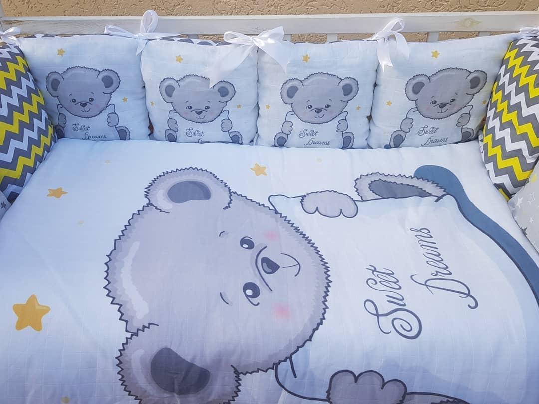 Постільний набір в ліжечко для новорожденого ТМ Бонна Панелі без балдахіна
