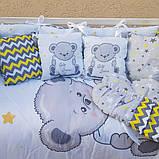 Постельный набор в кроватку для новорожденого   ТМ Бонна Панели без балдахина, фото 2