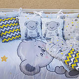 Постільний набір в ліжечко для новорожденого ТМ Бонна Панелі без балдахіна, фото 2