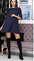 Женское трикотажное платье свободного покроя в цветах