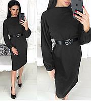 Модное платье трапеция изготовлено из ангоры сМодное платье трапеция изготовлено из ангоры с красивой фактурой