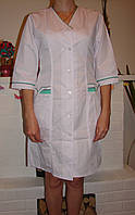 Женский медицинский халат большого размера 2191-4 (68-74 р-р) батист, фото 1