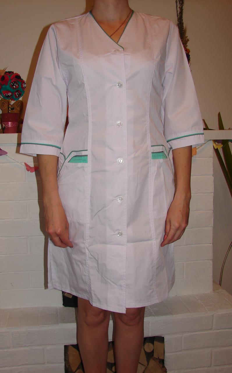 Женский медицинский халат большого размера 2191-4 (68-74 р-р) батист