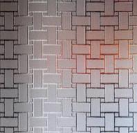 Узорчатое рифленное стекло Хасир бронза 4мм