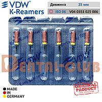 VDW K-Reamer (К-ример ВДВ) 25 мм, ISO 06