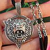 Серебряный мужской кулон амулет Медведь - Серебряный оберег бога Велеса Медведь, фото 6