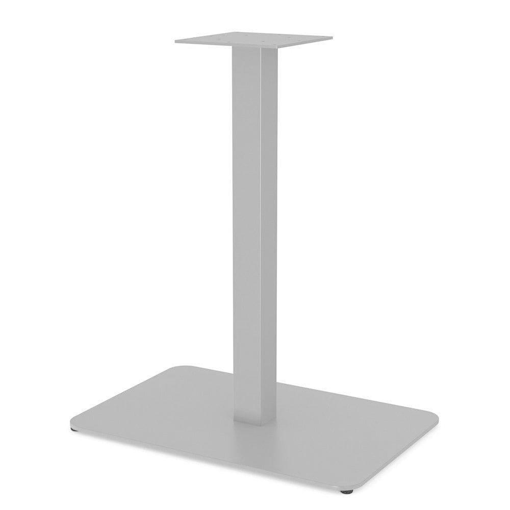 Белые опоры из металла для столика в ресторан с прямоугольной пластиной