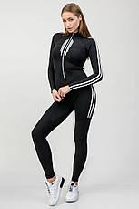 Комбинезон для фитнеса с длинными рукавами на молнии, фото 2