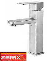 Смеситель ZERIX LR71133 для умывальника из нержавеющей стали