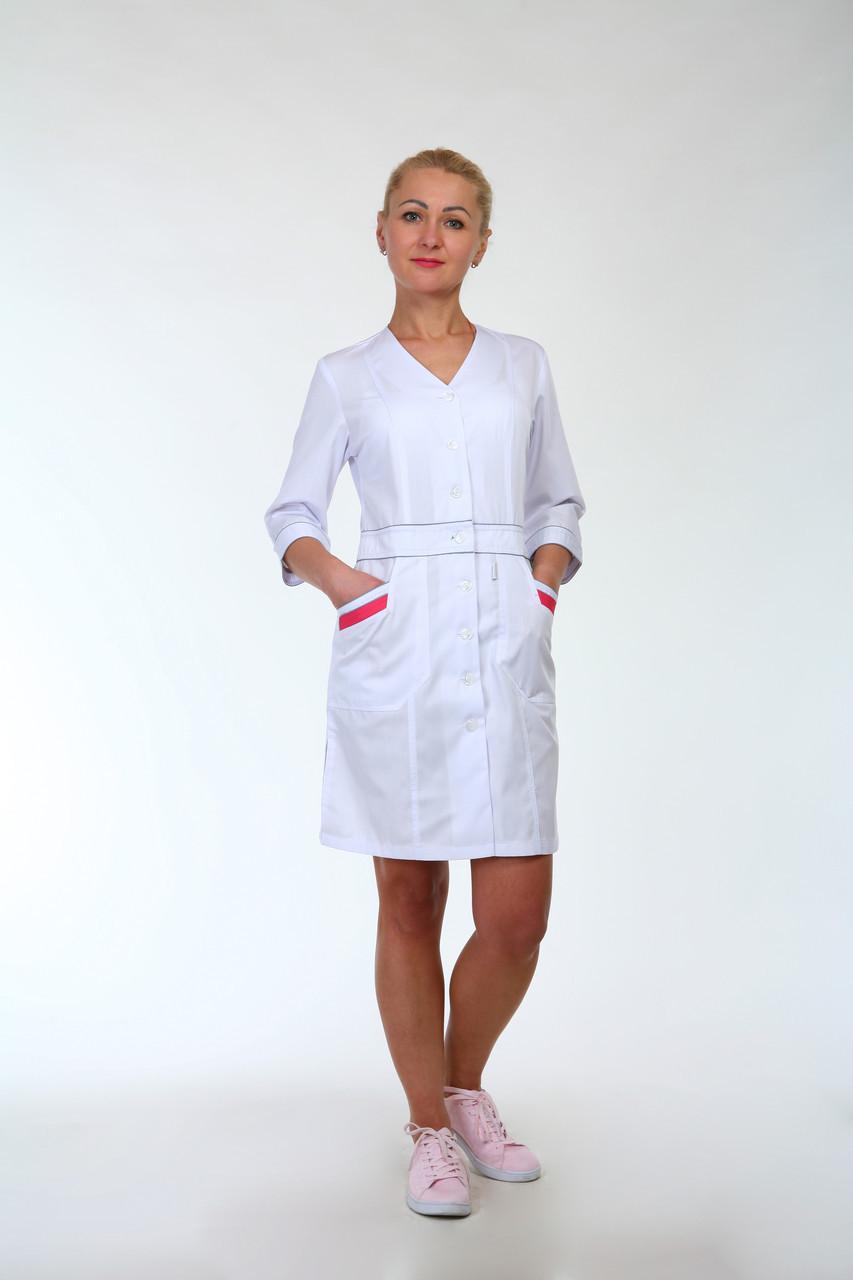 Медицинский халат женский 3141 ( коттон 42-60 р-р)