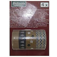 Скотч декоративный 4шт Melinera (7036)