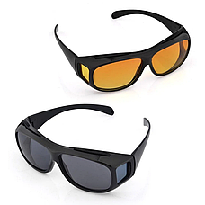 Антибликовые очки HD VISION 2 штуки в наборе, от солнечных бликов и для ночного вождения, фото 2