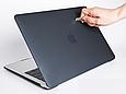 Чехол пластиковая накладка для MacBook PRO 13,3'' (A1706/A1708/A1989/A2251/A2289/A2338) - черный, фото 6