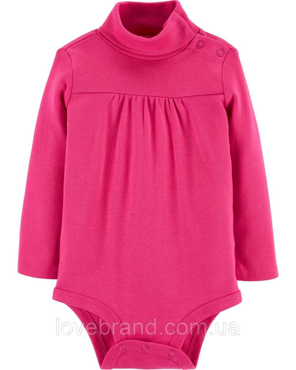 Гольф-боди  для девочки OshKosh (США) розовый, бодик под горло