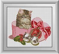 Картина алмазной мозаики Сюрприз (котенок) Dream Art 30890 (37 x 42 см)