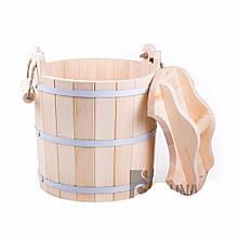 Запарник с крышкой (липа) 25 литров ПРО