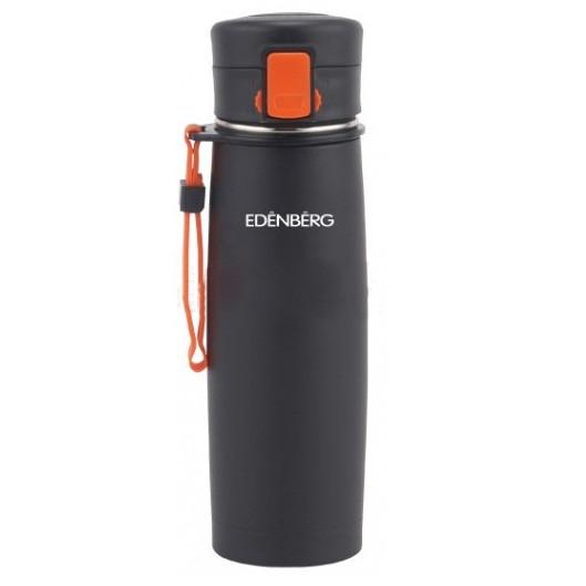Термокружка Edenberg EB-629-3 кружка-термос 480 мл оранжевая с ремешком