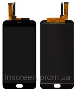 Дисплей Meizu M2 Note M571 з сенсором (тачскрін) чорний