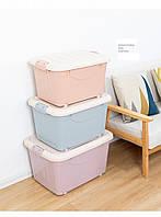 Контейнер на колесиках для хранения вещей и игрушек