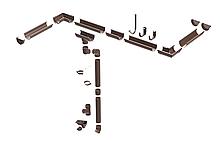 Пластикова водостічна система ProAqua, система 125/90