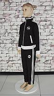 Костюм детский спортивный черный с белыми полосками Point ONE