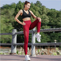 Женские бесшовные лосины с широким поясом для спорта и фитнеса