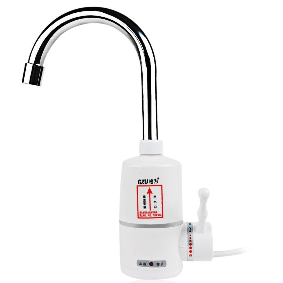 Электрический проточный водонагреватель / кран / душ GZU ZM-D1 3000 Вт Белый (2919-8857)