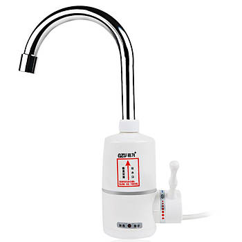 Електричний проточний водонагрівач / кран / душ GZU ZM-D1 3000 Вт Білий (2919-8857)