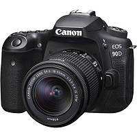 #181421 - Зеркальный фотоаппарат Canon EOS 90D EF-S 18-55mm IS STM Kit Black (3616C030)