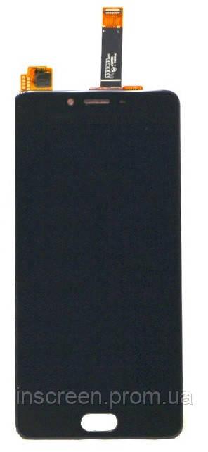 Экран (дисплей) Meizu E2 (M2e) с тачскрином (сенсором) черный