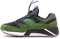 Мужские кроссовки Saucony Grid 9000 в зеленом цвете