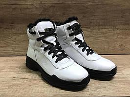 Ботинки спортивные, женские,зимние, белые,из кожи МИДА 24945